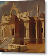 Mausoleum With Stone Elephants Metal Print