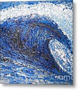 Mavericks Wave Metal Print by RJ Aguilar