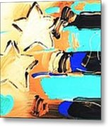Max Americana In Inverted Colors Metal Print