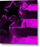 Max Americana In Purple Metal Print