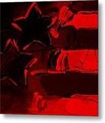 Max Americana In Red Metal Print