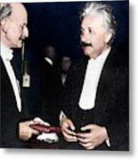 Max Planck And Albert Einstein Metal Print