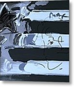 Max Stars And Stripes In Cyan Metal Print