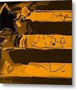 Max Stars And Stripes In Orange Metal Print