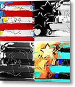 Max Stars And Stripes In Quad Colors Metal Print