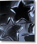 Max Two Stars In Cyan Metal Print