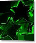 Max Two Stars In Green Metal Print