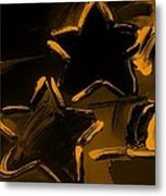 Max Two Stars In Orange Metal Print