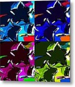 Max Two Stars In Pf Quad Colors Metal Print