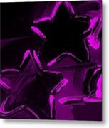 Max Two Stars In Purple Metal Print