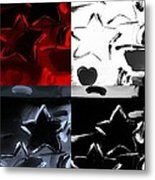Max Two Stars In Quad Colors Metal Print