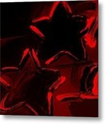 Max Two Stars In Red Metal Print
