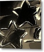 Max Two Stars In Sepia Metal Print