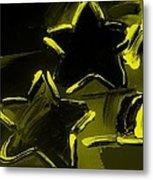 Max Two Stars In Yellow Metal Print