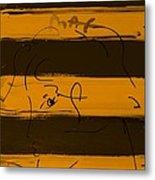 Max Woman In Orange Metal Print