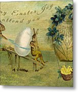 May Easter Joy Attend You Metal Print