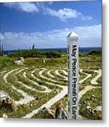 May Peace Prevail On Earth Peace Labyrinth Aruba Metal Print