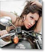 Maya And Harley Metal Print