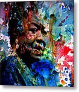 Maya Angelou Paint Splash Metal Print