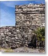 Mayan Building At Tulum Metal Print