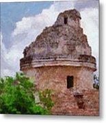Mayan Observatory Metal Print