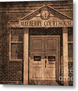 Mayberry Courthouse Metal Print