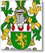 Mccartan Coat Of Arms Irish Metal Print