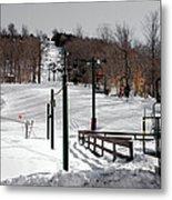 Mccauley Mountain Ski Area Vi- Old Forge New York Metal Print