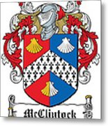 Mcclintock Coat Of Arms Donegal Ireland Metal Print