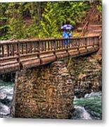 Mcdonald Creek Bridge Metal Print