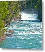 Mcdonald Creek Falls In Glacier Np-mt Metal Print
