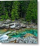 Mcdonald Creek In Glacier National Park Metal Print