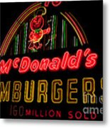 Mcdonalds Sign Metal Print