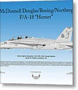 Mcdonnell Douglas Boeing Northrop Fa-18 Hornet Metal Print