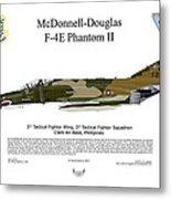 Mcdonnell Douglas F-4e Phantom II Metal Print
