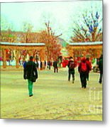 Mcgill Univ Students And Faculty College Campus Montreal Memories Collectible Art Prints C Spandau Metal Print