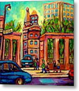 Mcgill University Roddick Gates Montreal Metal Print