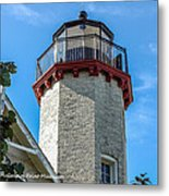 Mcgulpin Point Lighthouse Michigan Metal Print