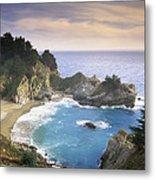 Mcway Cove Falls In Big Sur Metal Print