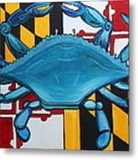 Md Blue Crab Metal Print