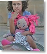 Mdina Girl Metal Print