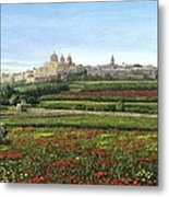 Mdina Poppies Malta Metal Print by Richard Harpum