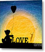 Me And My Bear Metal Print by Tim Gainey