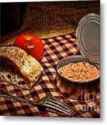 Meager Lunch Metal Print