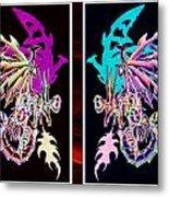 Mech Dragons Pastel Metal Print