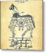 Mechanical Horse Patent Drawing From 1893 - Vintage Metal Print