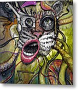 Mechanical Tiger Girl Metal Print by Frank Robert Dixon