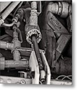 Mechanicals Bw Metal Print
