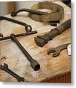 Mechanic's Tools Metal Print