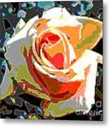 Medallion Rose Metal Print